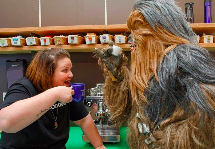 The Chewbacca mom hit up Facebook HQ and it was as glorious as you'd expect