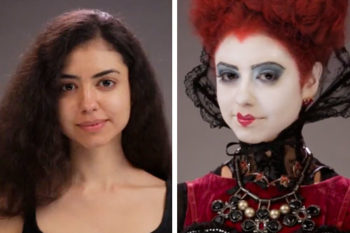"This woman transformed into different ""Alice Through the Looking Glass"" characters is magical"