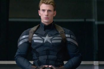 Whoops, someone forgot to tell Chris Evans that Captain America has switched sides