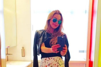 Lindsay Lohan just won Instagram with this perfect summer skirt