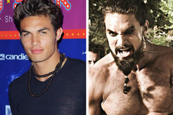 Never forget that the actor who plays Khal Drogo wasn't always a giant, buff Dothraki warlord