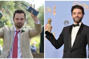 """How come we never noticed that """"New Girl's"""" Jake Johnson looks a lot like Oscar Isaac?"""