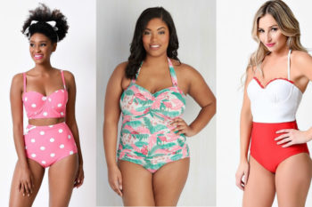Feel like a pin-up in these retro-style bathing suits