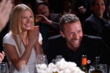 Gwyneth Paltrow just took Apple to visit her dad at work…so, to a Coldplay concert