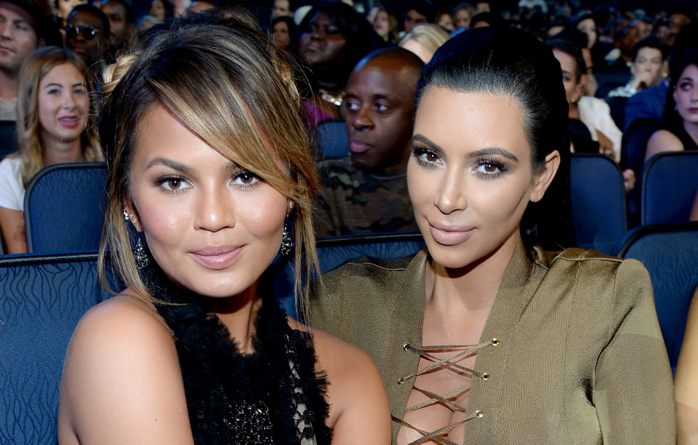 Chrissy Teigen Snapchatted Kim Kardashian and Kanye West's amazing brunch with Baby Luna