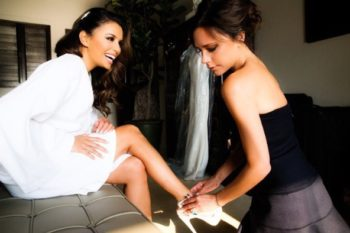Posh Spice helps Eva Longoria get ready for her wedding, defines #friendshipgoals