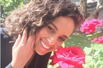 """Alicia Keys went completely makeup-free for her """"Vanity Fair"""" cover even though it scared her"""