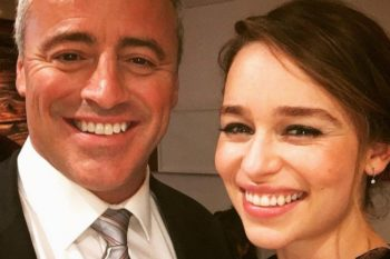 "Emilia Clarke met our fave ""Friends"" character, was adorably nervous like all of us would have been"