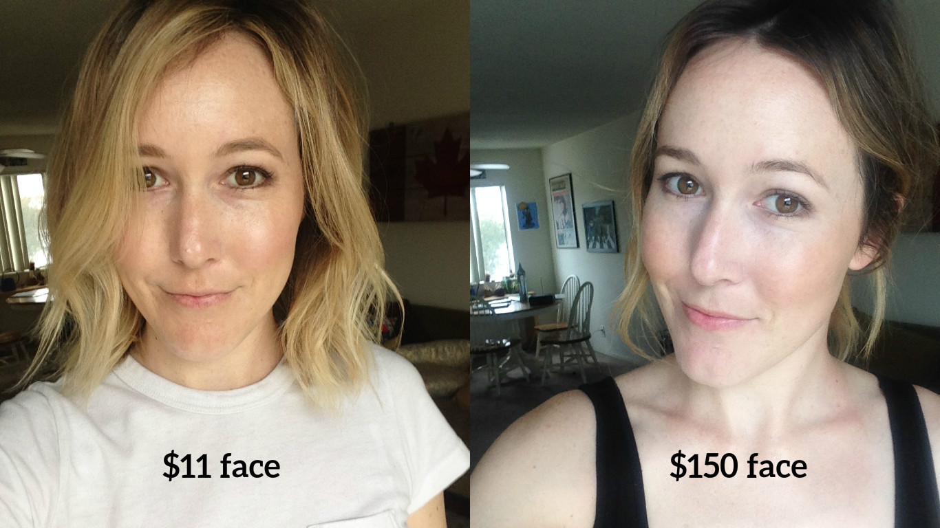 This is what an $11 face of makeup looks like