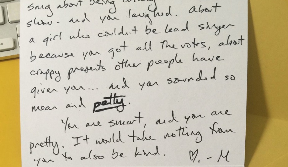 How do we feel about the note about kindness this woman left some teen girls at Starbucks?