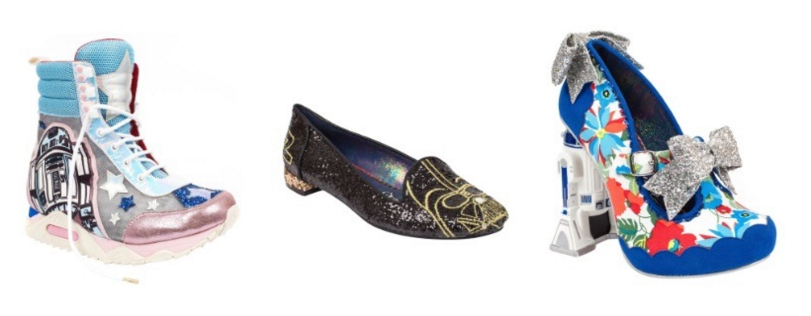 "We're weirdly into these over-the-top ""Star Wars"" shoes"