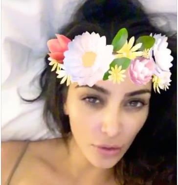 Kim Kardashian got real about the Snapchat beauty filter and shows off her ~natural~ face