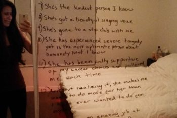 This man wrote a beautiful reminder for his wife who is struggling with depression