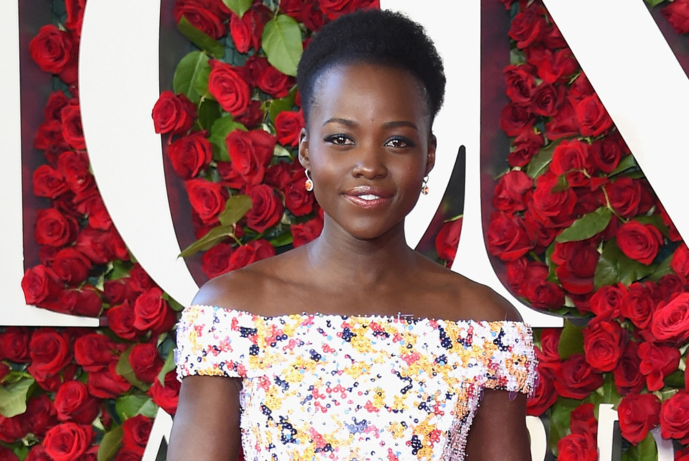 Lupita Nyong'o was a dream in this printed gown at the Tony Awards