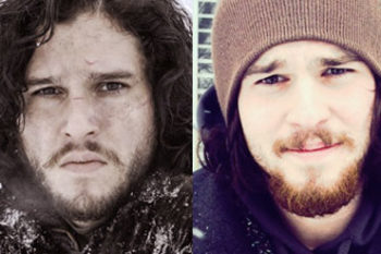 Whoa, this guy looks A LOT like Jon Snow and we can't stop staring