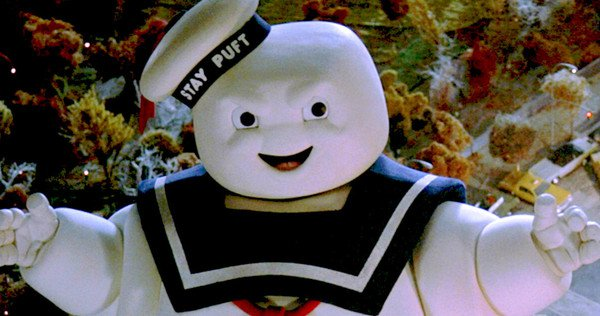 "Get excited ""Ghostbusters"" fans because the Stay Puft Marshmallow Man is back"