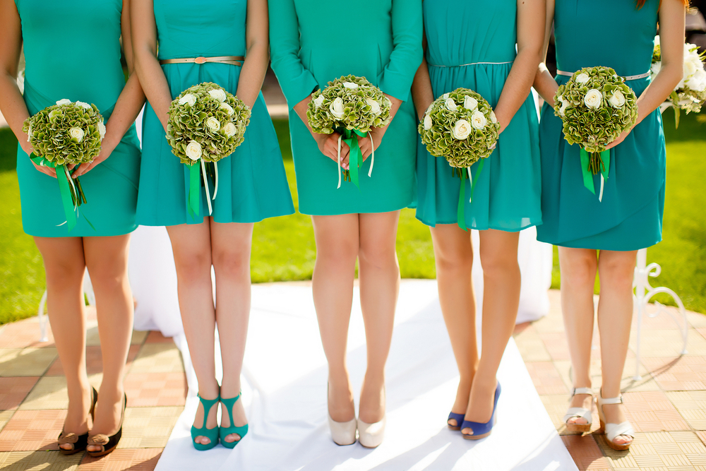 Here's the origin of the tradition of bridesmaids wearing matching dresses