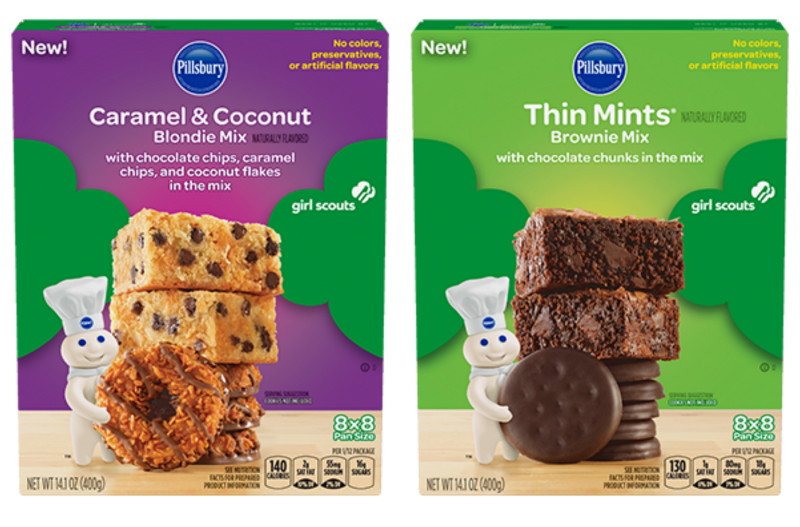 Pillsbury is making all of our dreams come true with Girl Scout cookie baking mixes