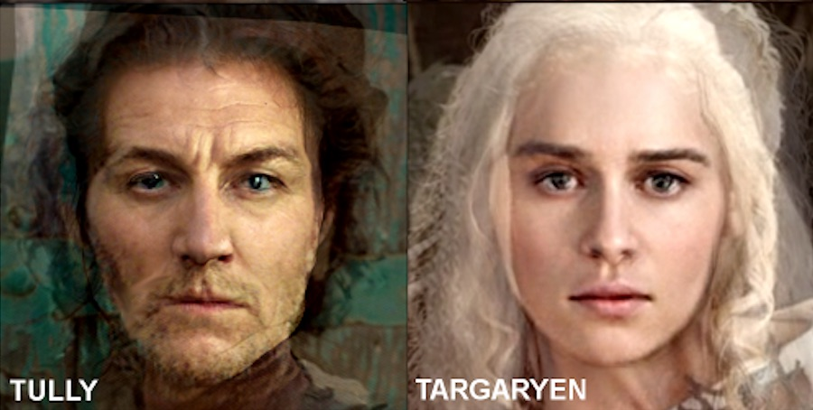 "This is what an average person from all of the ""Game of Thrones"" houses would look like"