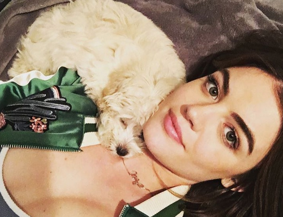 Lucy Hale and her dog Elvis celebrated New Year's Eve together, and it was so precious