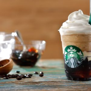 Starbucks is selling coffee jelly in Japan and we'd like to know what the heck that is