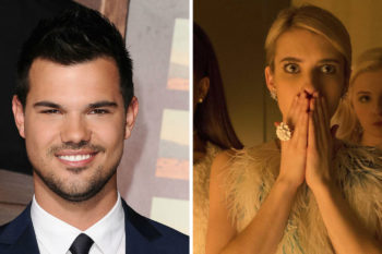 "Taylor Lautner is joining ""Scream Queens"" and his character sounds… interesting"