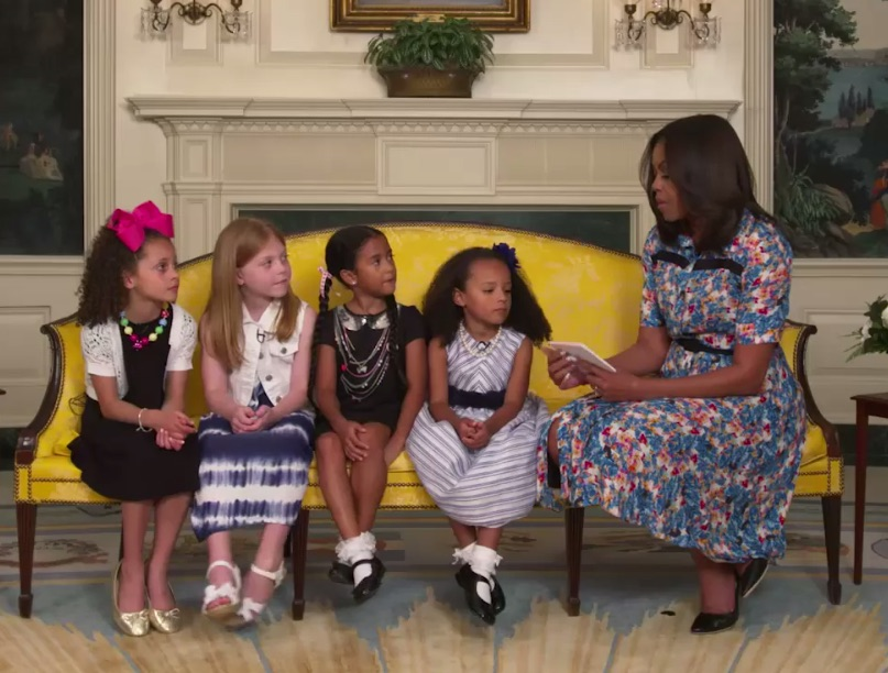 Little girls gave Michelle Obama some advice and our hearts are bursting