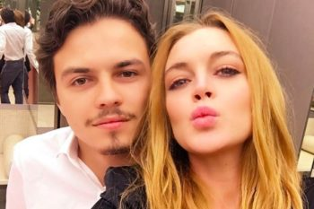 Lindsay Lohan and her boo look so in love in their first red carpet appearance