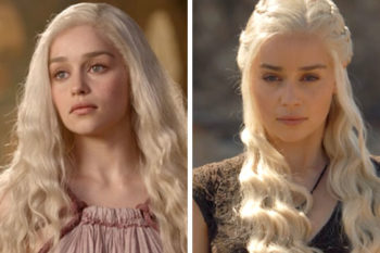 "This is how much Daenerys' ~look~ has evolved throughout ""Game of Thrones"""