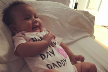 Chrissy Teigen just shared a picture of Baby Luna loving her dad, John Legend, oh so much