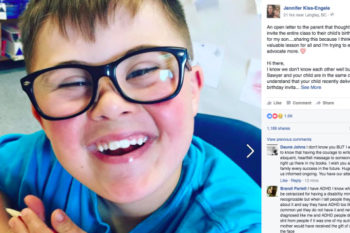 This mom's open letter about her son with Down Syndrome being excluded by his classmates has gone so viral