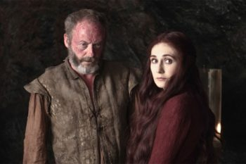 "The Davos-Melisandre confrontation is coming on ""Game of Thrones"" and we're afraid"