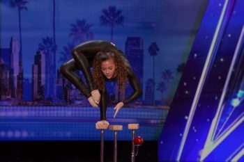 "Our minds are blown by this 14-year-old contortionist on ""America's Got Talent"""