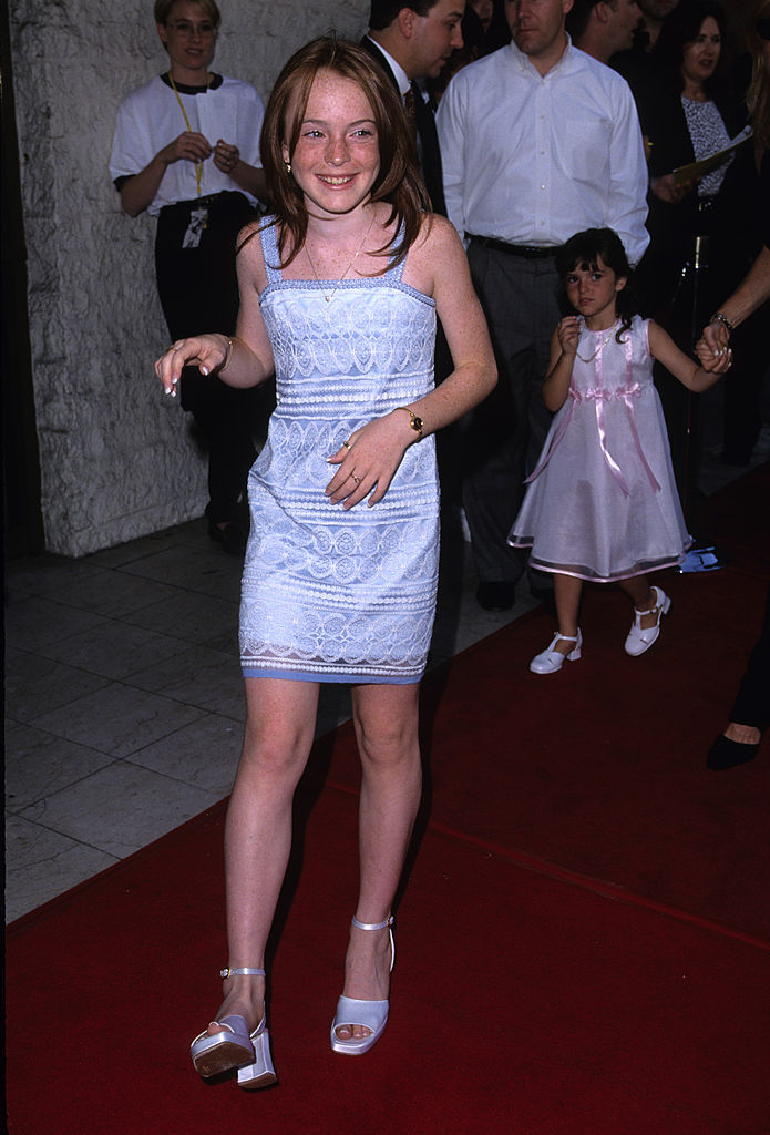 Lindsay Lohan looked like a '90s girl's dream on her first ...