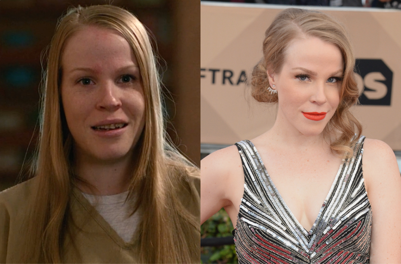 "Leanne from ""Orange is the New Black"" looks unrecognizable on the red carpet"