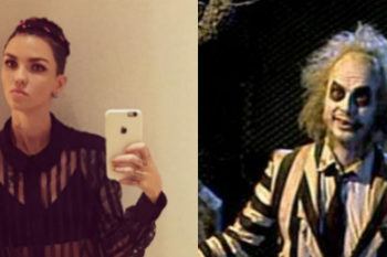 Ruby Rose says her look was inspired by Beetlejuice in her latest Instagram