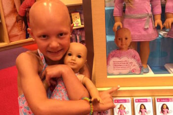 This mom wrote a thank you note to American Girl Dolls for displaying dolls without hair