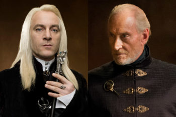 We're a little afraid of this photo of Lucius Malfoy meeting Tywin Lannister