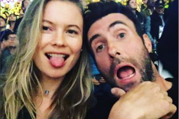 Behati Prinsloo proudly showed off her pregnant belly on Instagram