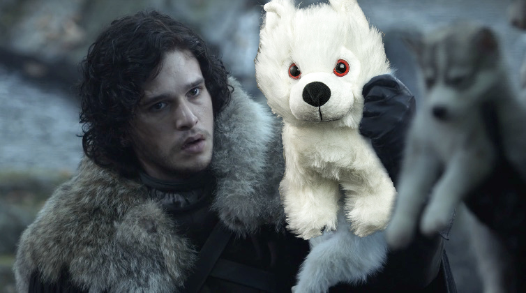 "You can buy ""Game of Thrones"" stuffed direwolves at Comic-Con, and they are THE cutest"