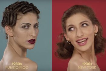 We're very into the 100 years of Puerto Rican beauty video