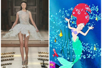 Channel your inner Ariel with this under-the-sea-inspired couture