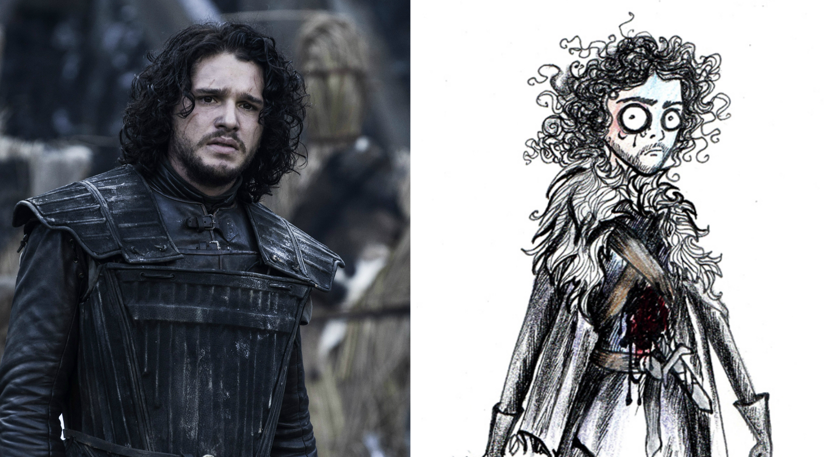 "This is what it would look like if Tim Burton animated ""Game of Thrones"""