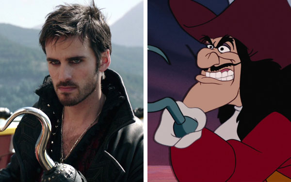 "What the ""Once Upon a Time"" characters look like compared to their animated counterparts"