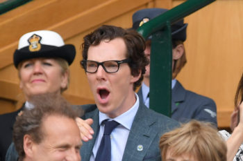 Here are some pictures of Benedict Cumberbatch making strange faces, just because