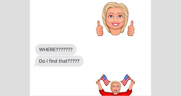 The Hillary Clinton emojis you've always wanted are finally here