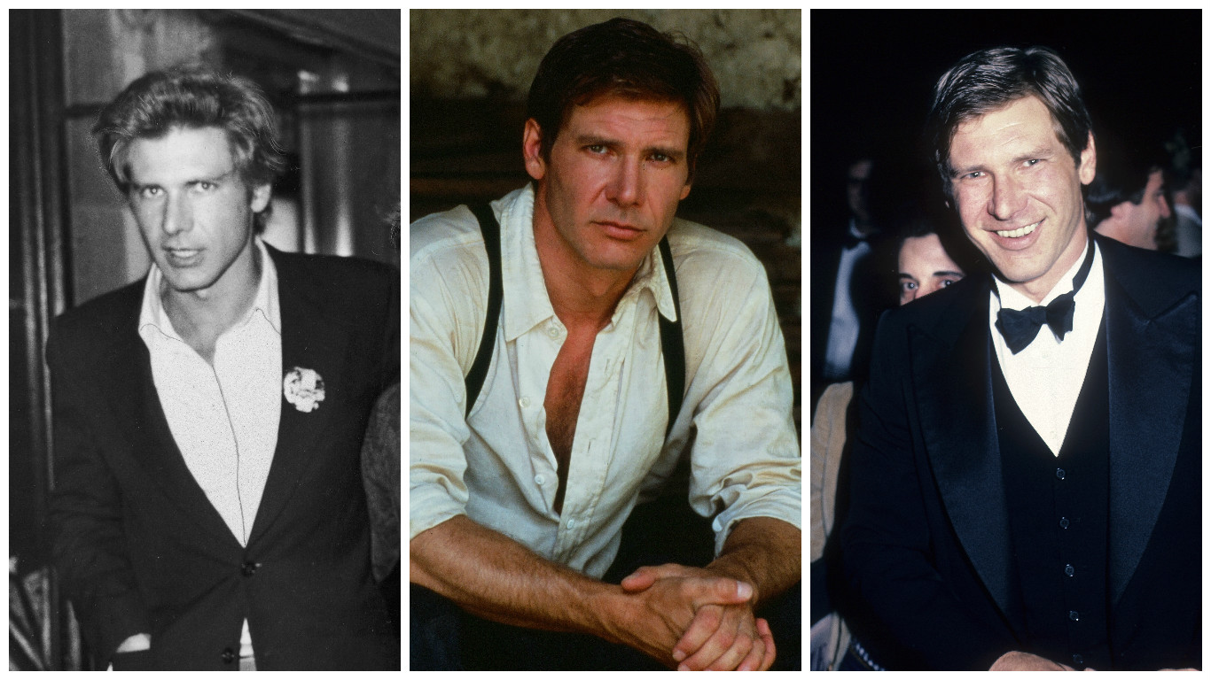 Just a bunch of throwback pictures of Harrison Ford looking ridiculously handsome at every age