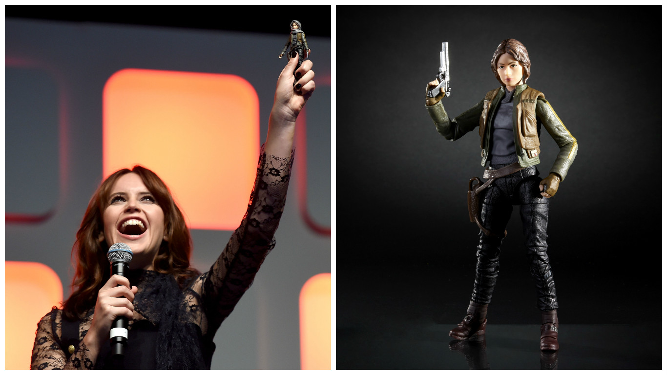 """Felicity Jones revealed her new """"Rogue One: A Star Wars Story"""" action figure, and it is giving us LIFE"""