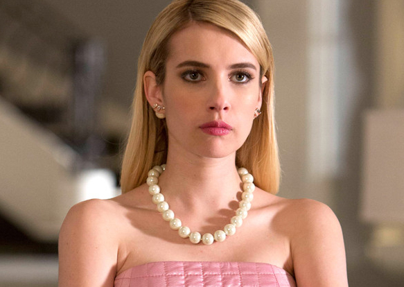 "Emma Roberts just teased some serious ""Scream Queens"" season 2 costumes and they're scary good"