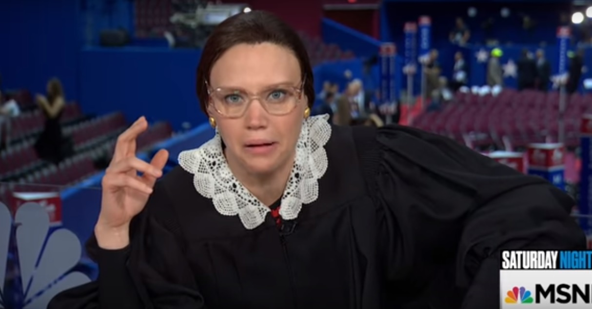 Kate McKinnon brought her Notorious RBG game face to the RNC and we can't stop laughing